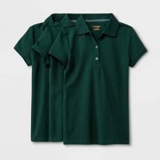Cat & Jack Girls' 3pk Short Sleeve Pique Uniform Polo Shirt - Cat & JackTM
