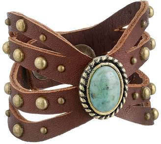 Leather Rock B664 Bracelet