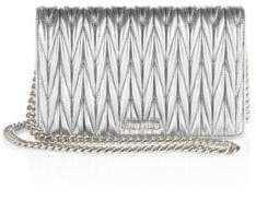 Miu MiuMiu Miu Matelasse Leather Chain Wallet