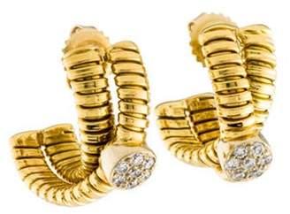 Emsaru 18K Diamond Huggie gold Emsaru 18K Diamond Huggie