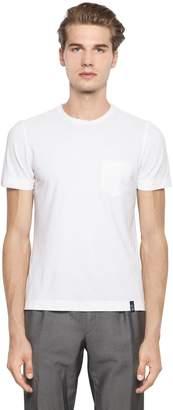 Drumohr Cotton Crepe T-Shirt With Jersey Pocket