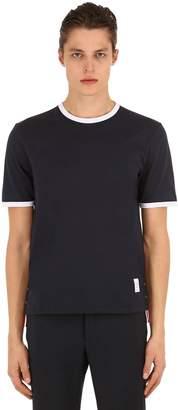 Thom Browne Cotton Jersey T-Shirt W/ Stripe Details