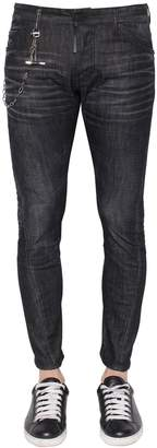 DSQUARED2 16cm Sexy Twist Stretch Denim W/ Chain