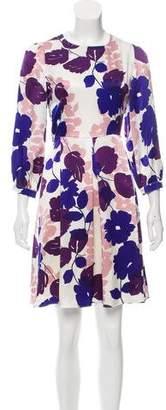 Blumarine Satin Floral Print Dress