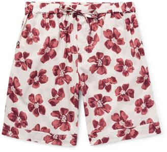 Desmond & Dempsey Victor Printed Cotton Pyjama Shorts