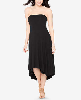 Motherhood Maternity Strapless High-Low Dress