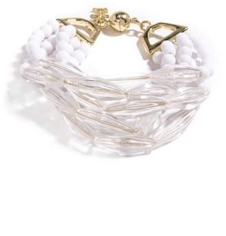 Zenzii Lucite White Bracelet