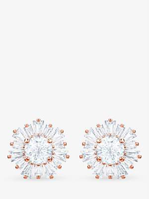 Swarovski Crystal Sunshine Stud Earrings, Rose Gold