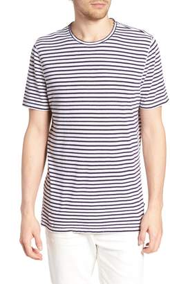 AG Jeans Theo Striped Cotton & Linen T-Shirt