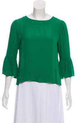Alice + Olivia Silk Long Sleeve Blosue