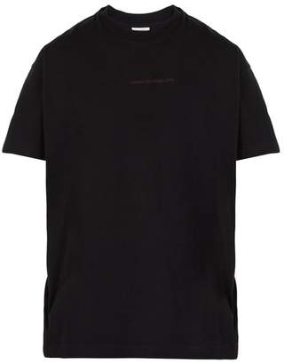Vetements Free Hugs Print Multi Way Cotton T Shirt - Mens - Black