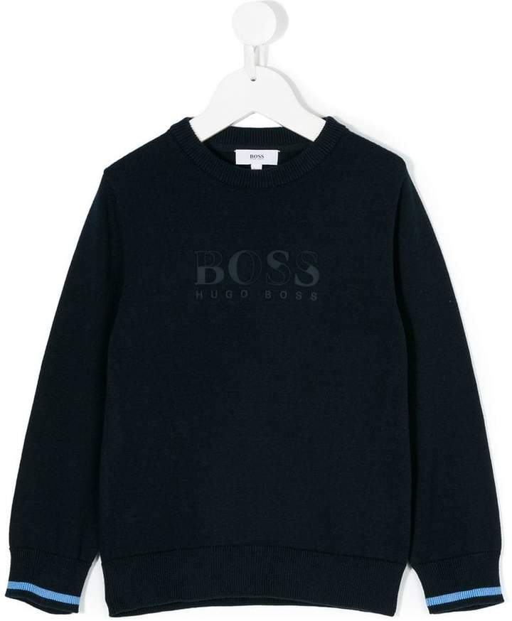 Boss Kids crewneck logo sweater