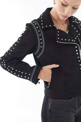 Urban Outfitters Studded Moto Jacket