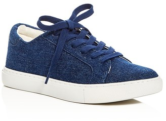 Kenneth Cole Kam Denim Lace Up Sneakers - 100% Exclusive $120 thestylecure.com