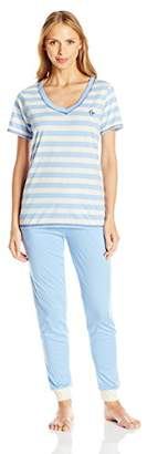 Tommy Hilfiger Women's Logo T-Shirt Top and Jogger Pant Bottom Set