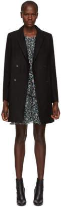 Etoile Isabel Marant Black Iken Wool Coat