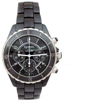 Chanel J12 Stainless Steel and Ceramic Black Chronograph 41mm Mens Watch