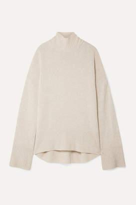 Frame Cashmere Turtleneck Sweater - Beige