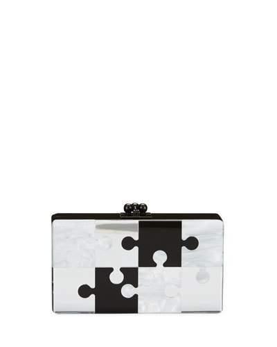 Edie Parker Jean Pop Resin Clutch Bag, Black