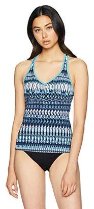 ZeroXposur Women's Teardrop Xo Racer Back Tankini Top
