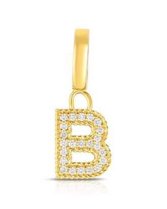 Roberto Coin 18k Gold & Diamond Letter B Charm