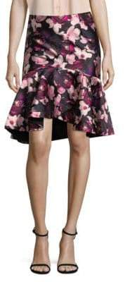 Romance Was Born Floral Hi-Lo Skirt