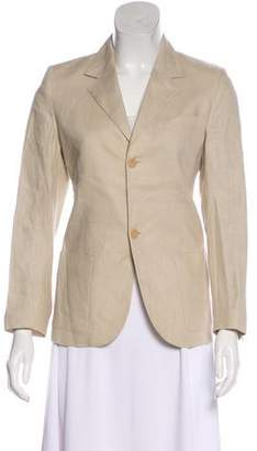 Cacharel Linen Notch-Lapel Blazer