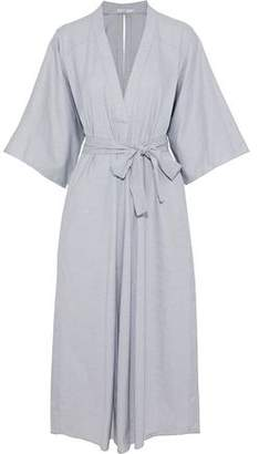 Tome Belted Cotton-Jacquard Midi Dress