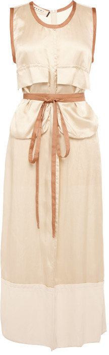 Marni Preorder Washed Twill Viscose Sleeveless Dress