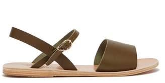 Ancient Greek Sandals Kaliroi Leather Sandals - Womens - Khaki
