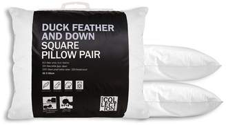 The Collection Home Collection - White Duck Feather And Down Square Pillow Pair