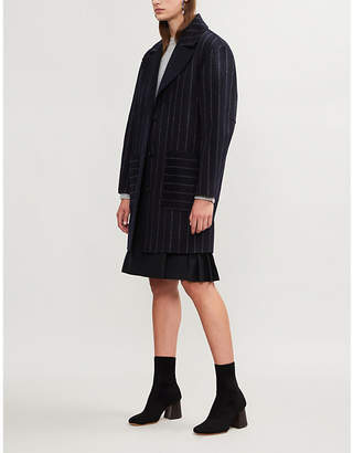 Diane von Furstenberg Pinstriped wool-blend coat