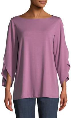 Eileen Fisher Lightweight Viscose Jersey Top, Petite