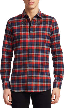 Givenchy Plaid Button-Front Shirt