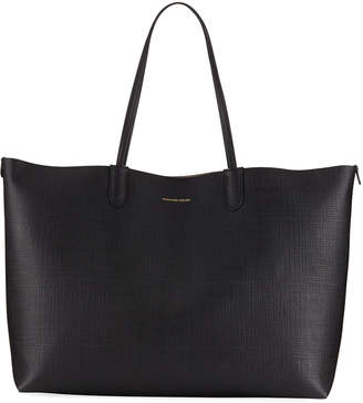 Alexander McQueen Large Textured Shopper Tote Bag, Black