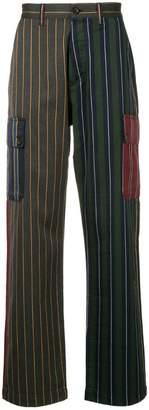 Loewe patchwork stripe trousers
