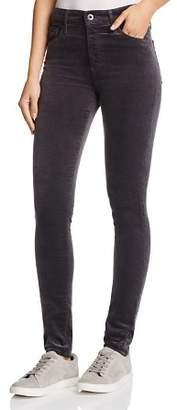 AG Jeans Farrah Velvet Skinny Jeans in Rich Mercury