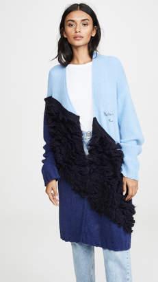Stella Jean Colorblock Oversized Alpaca Cardigan