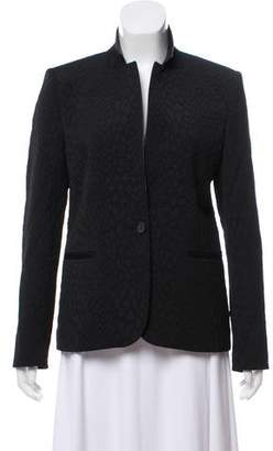 The Kooples Leather-Trimmed Jacquard Blazer w/ Tags