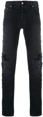Just Cavalli distressed detail jeans