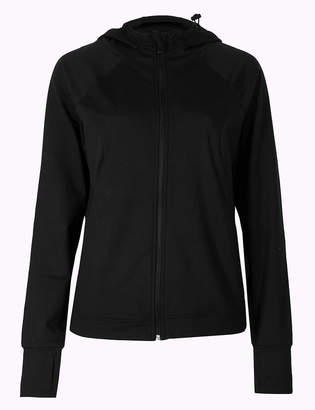 Marks and Spencer Brushed Hooded Long Sleeve Jacket