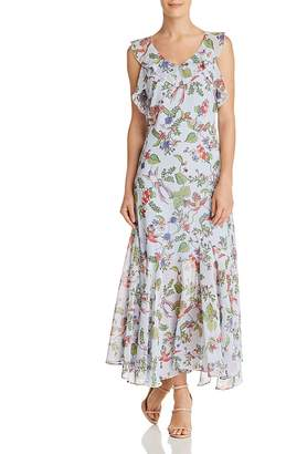 Nanette Lepore nanette Sleeveless Ruffle-Trim Floral-Print Maxi Dress