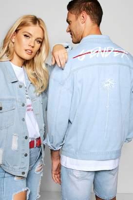 boohoo Pride End Gender Oversized Denim Jacket