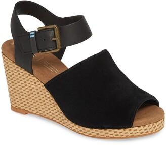 4528da2fc9b Toms Black Women's Sandals - ShopStyle