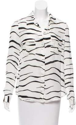 L'Agence Striped Button-Up w/ Tags