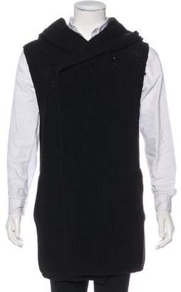 Rick Owens Hooded Wool Open-Front Cardigan