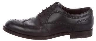 Bottega Veneta Leather Wingtip Oxfords
