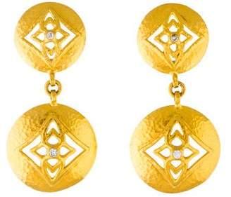 Gurhan 22k Starlight Diamond Drop Earrings YCEEC
