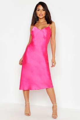 Pink Satin Maxi Dress - ShopStyle UK 9a6999198