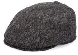 Saks Fifth Avenue COLLECTION Herringbone Plaid Classic Wool Ivy Cap